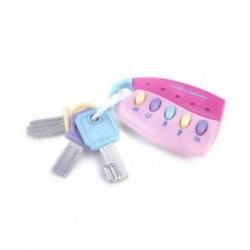 Rózsaszín - Rózsaszín 1db baba zenei intelligens távirányító autó kulcsjáték autóhangok Pretend játék oktatási