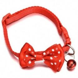 Piros - Piros Kisállat macska kutya Bowknot harang kisállat csokornyakkendő nyakkendő nyakörv cica kölyök állítható