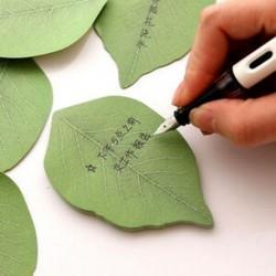 Zöld levél Megjegyzés papír kreatív notebook jelölő matrica Memo Pad ragadós jegyzetek Zöld levél Megjegyzés papír