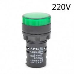 Green-220v 22 mm-es LED-es jelzőfény Pilótafény jelzőlámpa panel Piros zöld Kék Sárga fehér