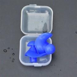 * 1 Kék Puha szilikon elleni zajhabos fül füldugó az úszás alvó munkapadhoz Újrafelhasználható Comfy