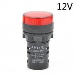 Piros-12V LED-es jelzőfény-jelzőfény-jelzőfény Vörös zöld Kék Sárga Fehér 22mm