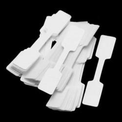 Négyszögletes 100db / táska fehér üres árcédulák nyaklánc gyűrű ékszer címkék papír matricák