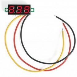 Piros Mini digitális feszültségmérő DC 0-100V LED panel feszültségmérő 3-digitális 3 vezetékkel