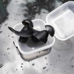 * 1 Fekete Puha szilikon újrafelhasználható komfort elleni zajhabos fül füldugó az úszás alvó munkadobozhoz