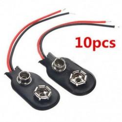 10db MN1604 PP3 9V 9volt elemtartó csipesz rögzítő csatlakozó kábel vezeték fekete 10db MN1604 PP3 9V 9volt elemtartó