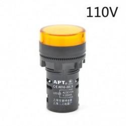Sárga-110v LED-es jelzőfény-jelzőfény-jelzőfény Vörös zöld Kék fehér sárga 22mm