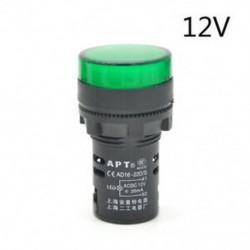 Green-12V LED-es jelzőfény-jelzőfény-jelzőfény Vörös zöld Kék fehér sárga 22mm