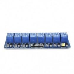 8 CH optocsatolóval (kék) 1x 5V 1/2/4/8 csatorna relé kártya modul Optikai csatlakozó LED az Arduino PiC ARM AVR