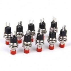 Mini pillanatnyi nyomógomb kapcsoló modell vasúti hobbi 7 mm-es csomag 10 piros Mini pillanatnyi nyomógombos kapcsoló