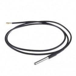 Vízálló DS18B20 digitális hőmérő vagy érzékelőhossz 1M fekete Vízálló DS18B20 digitális hőmérő vagy