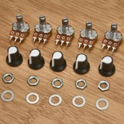 5Pc / tétel 15mm 10K OHM terminál lineáris forgó ellenállás potenciométer és gombok 5Pc / tétel 15mm 10K OHM terminál