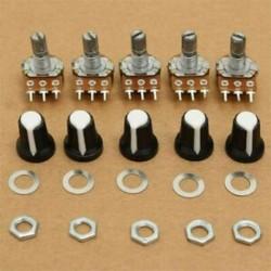 5Pc / Set 15mm 10K OHM terminál lineáris forgó ellenállás potenciométer és gombok 5Pc / Set 15mm 10K OHM terminál