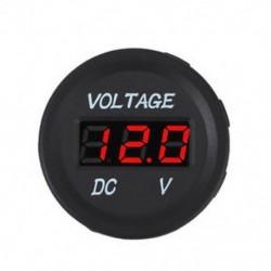 Piros 12V 24V autós tengeri motorkerékpár LED digitális feszültség feszültségmérő akkumulátor mérőműszer