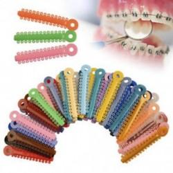1 Pack fogászati ortodontikus nyakkendők (többszínű, 1040db-os konzolok új) 1 Pack fogászati ortodontikus nyakkendők