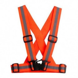 narancs Fényvisszaverő állítható biztonsági biztonság Nagy láthatóságú mellény fogaskerék Stripes Jacket