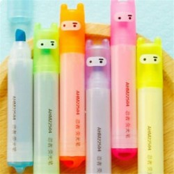 * 3 6PCS / készlet színes toll Aranyos gél toll golyóstoll színes levélpapír írás jel gyermek iskola irodai eszköz