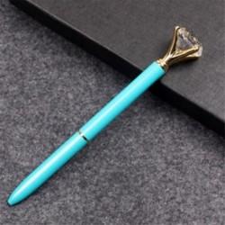 Kék golyóstoll - Fekete tintával - Köves díszítéssel - Iskolába - Kreatív íráshoz - Díszítéshez - 4