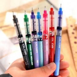 1db gél toll 0,5 mm közepes színű tinta üzleti rollerball toll irodai eszköz