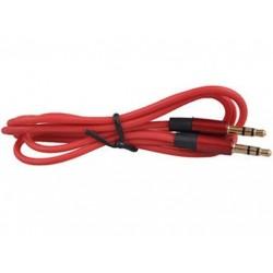 Piros 1PC 3,5 mm-es férfi-férfi audio sztereó Aux-hosszabbító kábel kábel iPhone iPod JP-hez