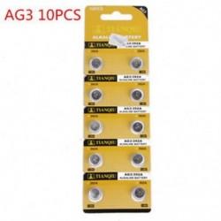 10db AG3 5/10 / 100PCS lúgos érme gomb cellás akkumulátor stabil játékmegőrző távirányítóhoz
