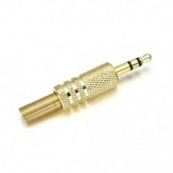 Arany Sztereó 3,5 mm-es fejhallgató / fülhallgató csere Audio jack csatlakozó forrasztó csatlakozó Új