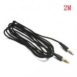 2M 3,5 mm-es AUX kiegészítő kiegészítő kábel férfi-férfi sztereó hangkábel autós telefon PC-hez MP3