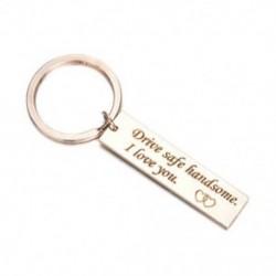 Rozsdamentes acél kulcstartó személyes üzenettel - rózsaarany színű