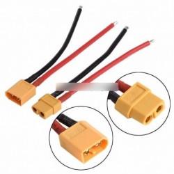 2db XT60 akkumulátor csatlakozó a férfi női dugó szilikon 14 AWG vezeték
