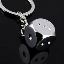 1 x Fém kreatív kocka kulcstartó kulcstartó gyűrű kulcstartó kulcstartó kulcstartó