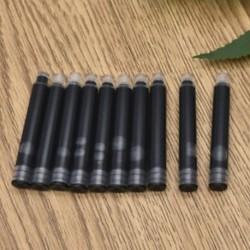 Fekete 20db 20Pcs íróeszköz eldobható fekete kék töltőtoll tintapatron utántöltő