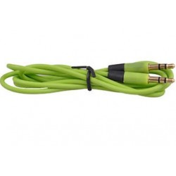 Zöld 3,5 mm-es AUX-hosszabbító kábelkábel férfi-férfi sztereó audió PC iPhone iPod készülékhez