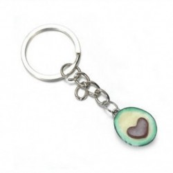 * 1 Avokádó kulcstartók - legjobb barátok kulcstartói - BFF kulcstartó - Élelmiszer ékszerek JP