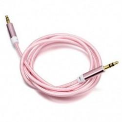 Rózsaszín 1M / 3ft kiváló minőségű AUX kábel 3,5 mm-es férfi és férfi kábel az AUX / MP3 / fejhallgatóhoz
