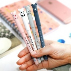 2Pcs / szett 0,35 mm Kawaii rajzfilm gél toll kék tintával író tollak aranyos levélpapír