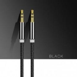 Fekete Kiváló minőségű AUX kábel 3,5 mm-es férfi és férfi kábel AUX / fejhallgató / MP3 1M / 3ft kábelhez