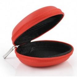 Piros Kemény tok tok tárolására szolgáló táska fejhallgató fülhallgató Earbud USB SD TF kártya