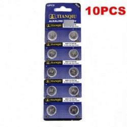 10 x AG13 LR44 SR44 L1154 357 A76 alkáli elemek gombelemek kamerája
