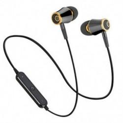 * 2 Fekete Univerzális vezeték nélküli Bluetooth fülhallgató Sport sztereó fülhallgató fejhallgató Kézzel szabad JP