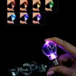 Mini aranyos színes LED zseblámpa izzó lámpa kulcstartó lámpa fáklya kulcstartó