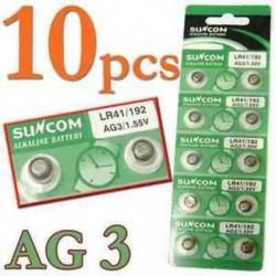 Tételek 10 db AG3 SG3 LR41 192 1.55V Gomb Érme cellás alkáli elemek