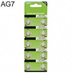 10PCS LR927 395 SR927 195 1.5V AG7 alkáli gomb cellás érme akkumulátorok