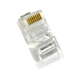 10db  Internet arany bevonatú kábelen moduláris csatlakozó Adapter RJ45 8P8C CAT5E