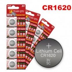 5PCS CR1620 DL1620 ECR1620 3V alkáli gombcellás érme akkumulátorok