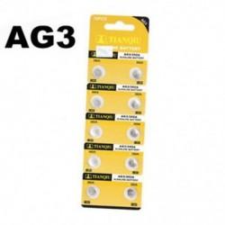 10PCS AG3 1.5V LR41 392 SR41 192 Alkáli gombérmék Az akkumulátor stabil