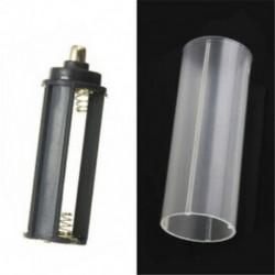 E-1PCS 18650 akkumulátorcső Akkumulátorok hordozható műanyag elemtartó fedél tartó tároló doboz DIY