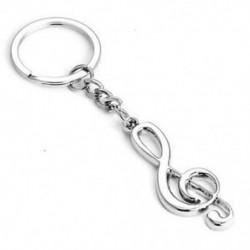 Divat rozsdamentes acél zene szimbólum fém kulcstartó kulcstartó kulcstartó kulcstartó ajándék