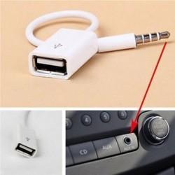 3.5mm AUX Audio Plug Male Jack USB 2.0 női átalakító autós adapter kábel mp3