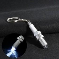 Divat LED kulcstartó gyújtógyertya kulcstartó kulcstartó autóalkatrészek kulcstartó kulcstartó Új