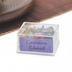 Gemstone Polished 1 doboz természetes durva kövek nyers rózsa kvarc kristály ásványi sziklák gyűjtemény ajándék